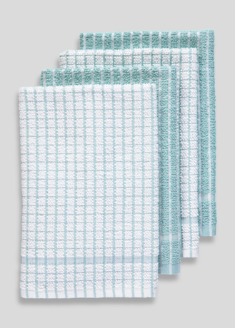 Picture of 4 Pack Check Terry Tea Towels