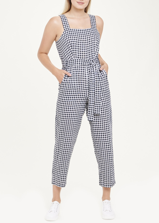 Picture of Sleeveless Gingham Jumpsuit